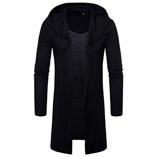 Quaan Herren' Herbst Winter Mode mit Einem Hoodie Solide Graben Mantel Jacke Strickjacke Lange Ärmel Outwear Bluse Sport Sonnenlicht Jacke beiläufig Windjacke Zu Rennen Party