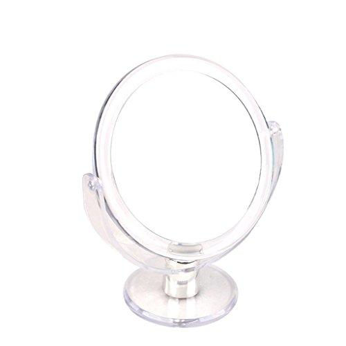 Miroir 7x Miroir de maquillage Double-face Miroir 20cm Miroir Miroir 6 pouces Table Miroir 2 côtés avec grossissement Violet/transparent Xuan - worth having (Couleur : Violet)