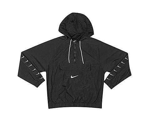 Nike M NSW Swoosh JKT WVN Veste de Sport Homme, Black/White/White, FR : L (Taille Fabricant : L)