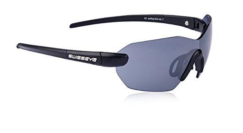 Sportbrille von Swisseye, Panorama, black matt/black