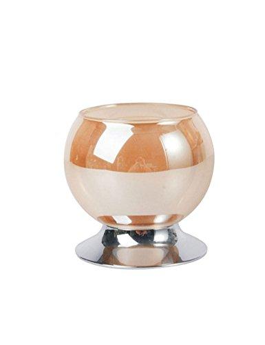 Cozyle Verre de Cristal romantique Home Mariage Décoration de table pour bougie, Acier inoxydable, blanc, D95*H137mm