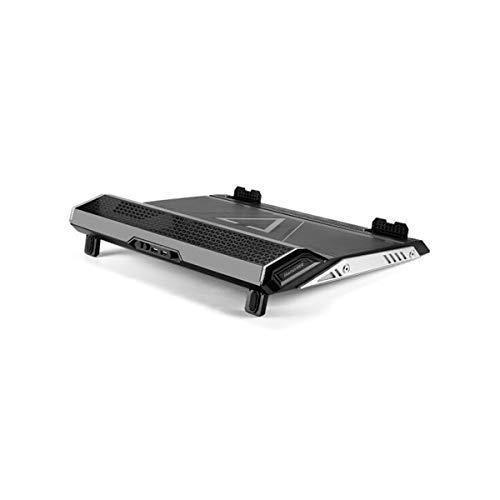 Muziwenju Laptop-Kühler, 17-Zoll-Laptop-Ständer Game Pad Cooling Base Für 13,3/14 / 15,6/17,3 Zoll, Turbo-Lüfterkühlung Schnelle Wärmeableitung (Color : Black)