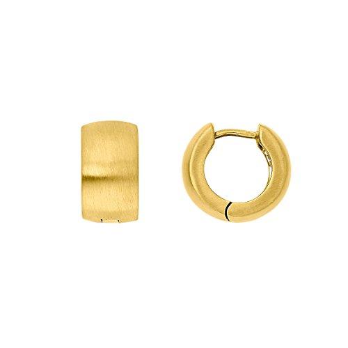 steel_art Damen-Ohrring creole xl gold Swarovski Zirconia BraunEdelstahl ho6203-7