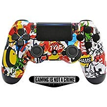 Soft Sticker Bomb Custom PS4 Pro Rapid Fire Custom Modded Controller 40 Mods für Alle großen Shooter Spiele, Fortnite, BO4 und Mehr (CUH-ZCT2U) (Advanced Playstation Warfare 2)