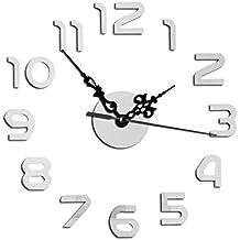 Fellibay - Reloj de Pared electrónico con Alarma, para decoración de Sala de Estar,