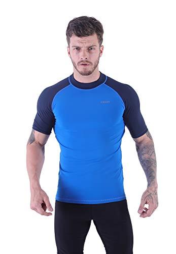VICROAD-UK Herren Kurzarm UV Rash Vest T-Shirts UPF 50+ Surf Rashguard Badeanzug Schnell trocknende Athletic Tops