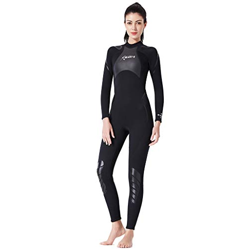 Warme Neoprenanzug in voller Länge Sonnenschutz, Flache Nähte, leicht zu schließender Reißverschluss - ideal für Strand und Tauchen-Surfen und Schnorcheln ()