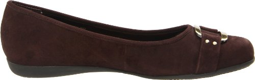 Trotters Women's Sizzle Signature Ballet Flat,Dark Brown Suded,5 M US Dark Brown Suded