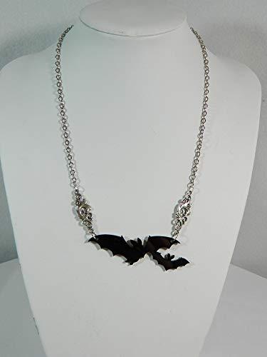 Halskette Fledermaus Modeschmuck Gothic Punk Rockabilly Bat - Hexe Mystic Kostüm