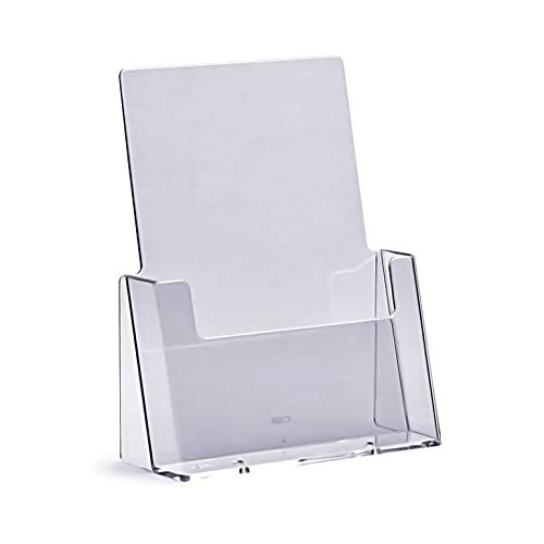 Porta Depliant A5 Espositore Brochure Versione Supporto-Volantini Porta Volantini Acrilico Trasparente Porta Depliant Din A5