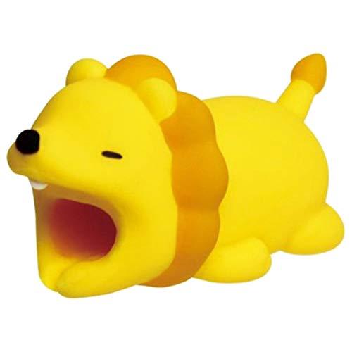 osmanthusFrag Kabelschutz Cord Halter Saver Organizer Dekor Schöne Cartoon Tierform für Handy Lion* -
