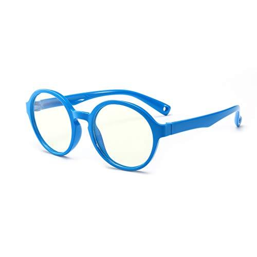 Hibote Mädchen Jungen Anti Blaulicht Brillen - Klare Linse Gläser Rahmen Geek/Nerd Brillen mit Auto Form Brillenetui - 18083008