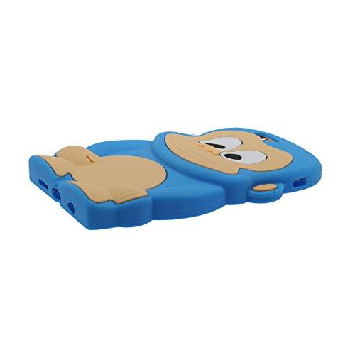 Singe Forme Série Silicone Gel [ Surface Lisse ] Super Doux Cartoon Animal Coque Housse de Protection Case pour Apple iPhone 6 / iPhone 6S 4.7 inch bleu