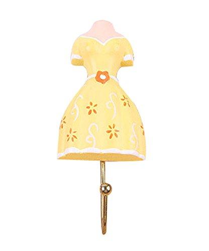 Creative Retro crochets décoratifs Jupe & crochets en robe jaune