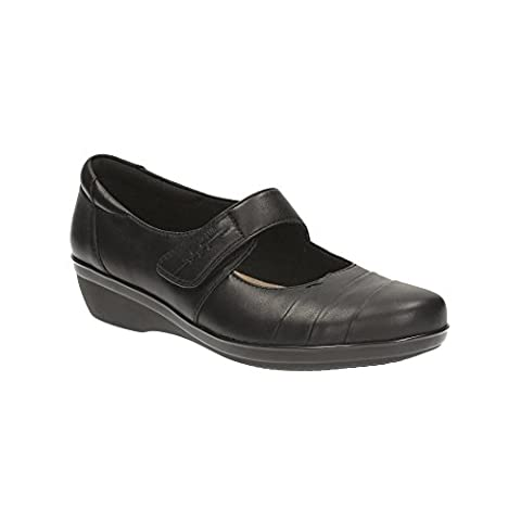 Clarks Everylay Kennon Womens Casual Shoes 6 Black