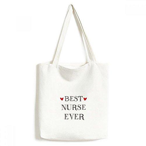 DIYthinker Beste Krankenschwester Zitat Haupt Respected Umwelt Waschbar Einkaufs-Tasche Fertigkeit-Geschenk 33 * 40cm Mehrfarbig