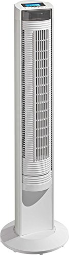 Airos Big Pin II WE Haushaltsturmventilator Weiß - Ventilatoren (Haushaltsturmventilator, Weiß, Flur, Kunststoff, 115°, 7,5 h)