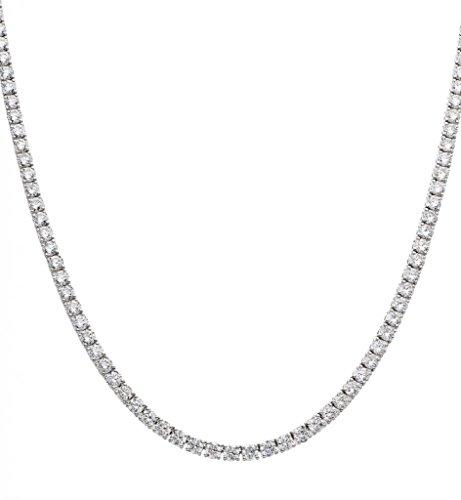 20.55ct in oro bianco 18K collana set tennis diamante taglio brillante G/VS2certificato