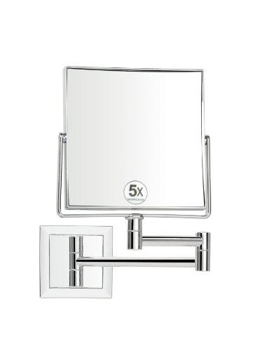 Andrea-BA7522-Espejo-de-aumento-con-brazo-X5AU-15-x-15-cm-color-plateado