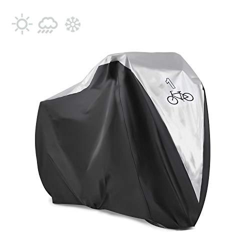 KOKOMALL Funda De Bici Impermeable Cubierta De Bicicleta Bloqueable Ligero Apto para Una Bicicletas 190 x 72 x 110 CM