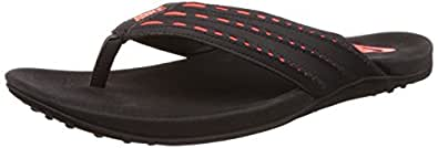 Nike Men's Keeso Thong Black and Total Crimson Flip Flops Thong Sandals -10 UK/India (45 EU)(11 US)