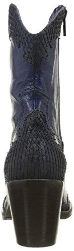 Donna Piu 8356 Enea, Santiags Femme Bleu (Mamba Blu/California Blu)