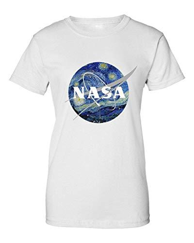 2b NASA Space Painting Camiseta de Mujer Small