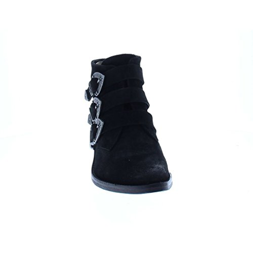 Bronx Black Leather Ankleboot Low Heel Schwarz
