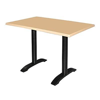2X Bolero Cast Iron Twin Leg Table Base Restaurant Cafe Dining Bar Clubs Legs
