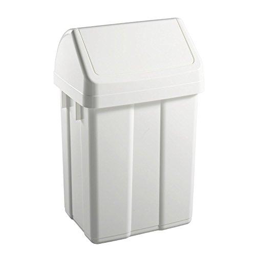 De basura tapa basculante cubo Colour blanco TTS 12