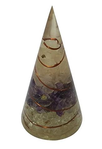 wholesalegemshop Rose, Amethyst, Kristall Energetische konische Membran Pyramide Form Antenne