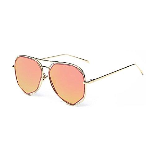Idyandyans Outdoor-UV400 Eyewear Sommer-Strand-Metall Sonnenbrillen für Frauen