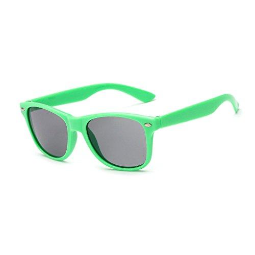 Kinder Wayfarer Style Sonnenbrille UV400Flexibler Rahmen Classic Retro Shades für Jungen und Mädchen, grün