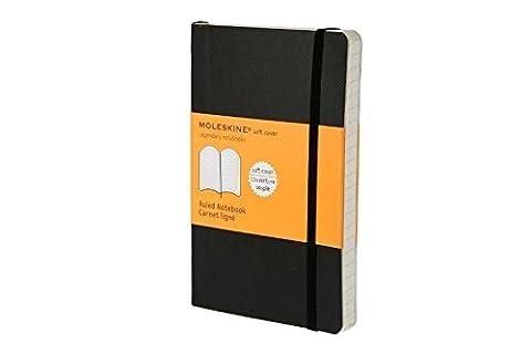 Moleskine Carnet ligné Format de poche Couverture souple noire 9