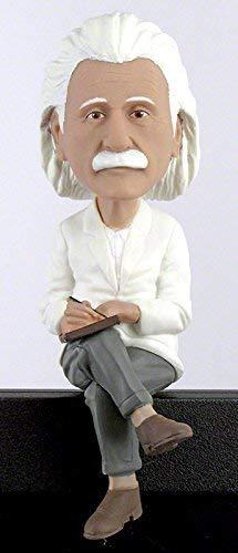 """Royal Bobbles - Wackelkopffigur Albert Einstein \""""Computer Sitter\"""" - für den Computerbildschirm"""