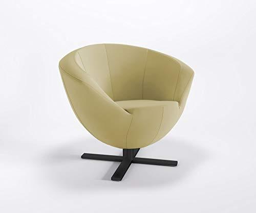 Clubsessel Only Plus BK S Kreuzfuß Barsessel Bürosessel Kunstlederbezug Valencia, Farbe:V6020 - Gold