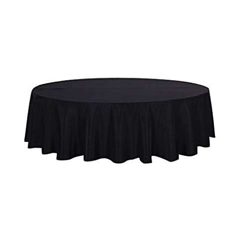 Alicemall Nappe de Table Ronde 180*180cm Nappe de Protection (Noir)