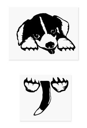 Lichtschalteraufkleber mit süßem Hund als Motiv, Wandaufkleber