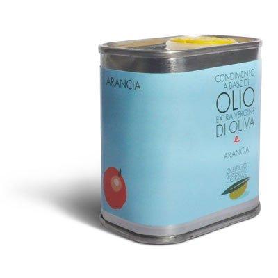 3 x 175 ml - olio extra vergine di oliva aromatizzato all'arancia - oleificio corrias