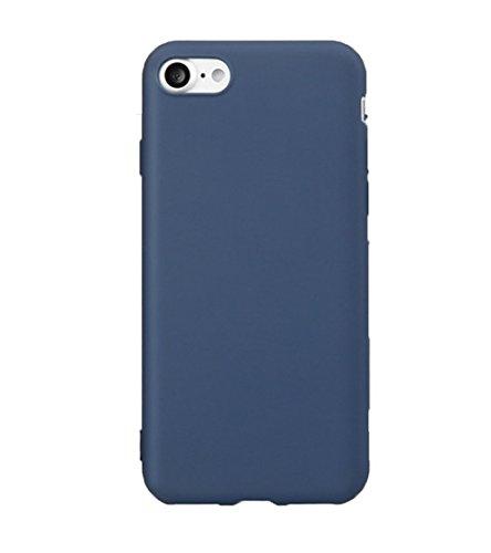 Demarkt 1 Pcs Coque iPhone 7 TPU Silicone Téléphone Portable Coque Antichoc Résistant Protection Cover Ultra Mince Gel Doux Soft Case Couverture Housse pour Apple iPhone 7 Rose Bleu