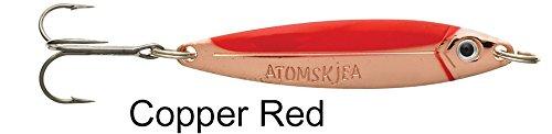 Westin Atomskjea Meerforellenblinker, Meerforellenköder, Mefo, Köder für Meerforelle, Blinker, Küstenblinker, Länge / Gewicht:7.2cm / 24g;Farbe:Copper / Red