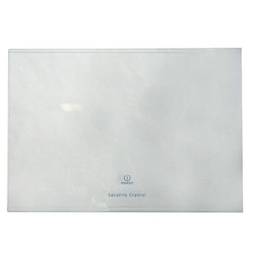 Indesit C00143042 ORIGINAL Glasplatte Abstellfach 472x328x4mm transparent Lebensmittelfach Kühlschrank Gefrierkombination wie Ariston Hotpoint Scholtès C00143042 wie Whirlpool Bauknecht 482000022965