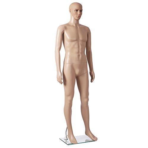 Songmics männliche Schaufensterpuppe männlich Schaufensterfigur Mannequin aus PE-Plastik MPGM18 - Eigene Mode-accessoires