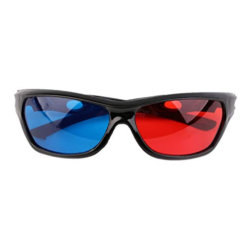 Wenwenzui Black Frame Red Blue 3D Glasses for Dimensional Anaglyph Movie Game DVD