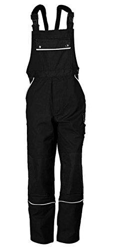 Latzhose Arbeitshose Berufsbekleidung Übergrößen schwarz Gr. 76