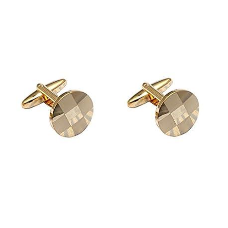 Westeng 1 par de Gemelos de Acero inoxidable Personalidad Botones para Accesorios de la Camisa Color Oro
