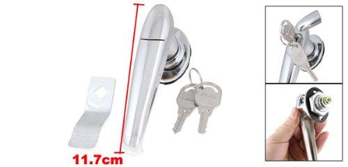 sourcingmap® Rotierende Griff Metall Einbaustrahler Security Lock 11.68 cm, 2 Schlüsseln, für Schranktür