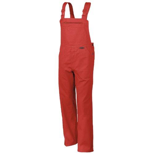 Qualitex Arbeits-Latzhose BW 270 - Größe: 46 - rot (Kostüm Rote Hose)