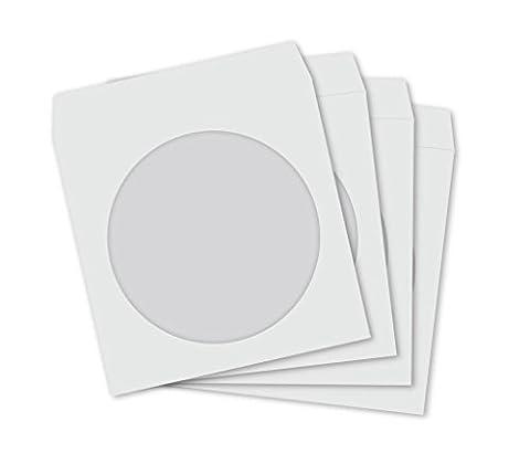 Lot de 100Pochettes CD/DVD en papier avec fenêtre et rabat