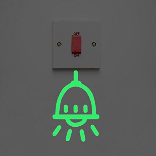 Leuchtaufklebe für Lichtschalter oder Steckdose / Fluoreszierend und im Dunkeln leuchtend DOLDOA (B)